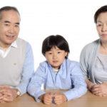 老夫婦と孫一人